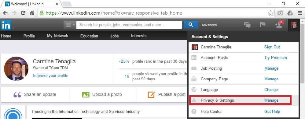 LinkedIn - Home Page