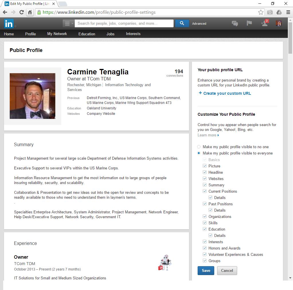 LinkedIn - Public Profile